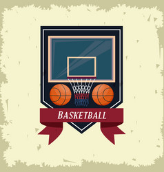 Basketball sport game poster card vector