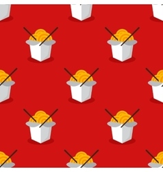 bright wok box chineese seamless pattern vector image