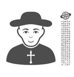 Christian Priest Icon With Bonus vector image