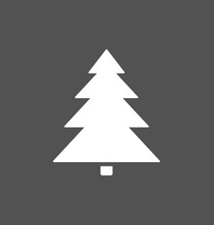 christmas tree icon on a dark background vector image
