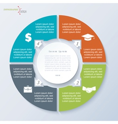circle template infographic vector image
