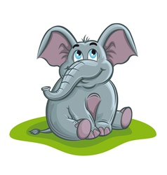 cute elephant baby vector image vector image