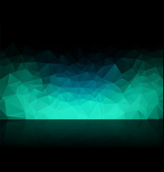 Dark geometric cyan background vector