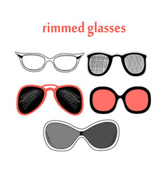 different spectacle frames vector image