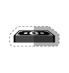 Dollar money stack icon vector