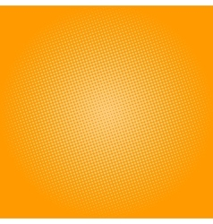 Dots on Yellow Background Pop Art Background vector image