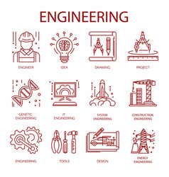 Engineering icons for construction building or vector
