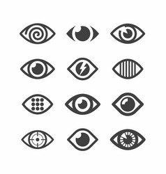 eye symbol icons vector image