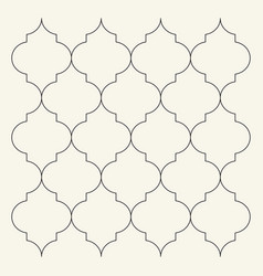 Flat outline moroccan pattern tile template vector