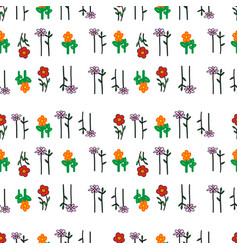 flowers seamless pattern background vector image