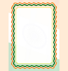 Frame and border of ribbon with india flag vector