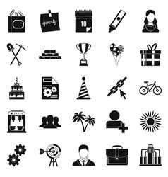 general icons set simple style vector image