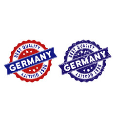 germany best quality stamp with dirty surface vector image