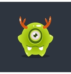 Green Alien With Antlers vector