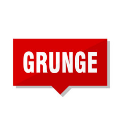 Grunge red tag vector