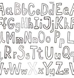 Grunge seamless font wallpaper vector image