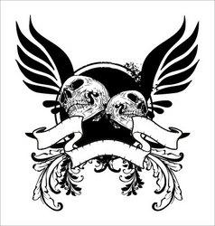 grunge skull banner vector image