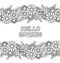hello spring coloring page vector image