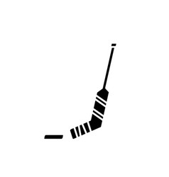 hockey black icon sign on isolated vector image