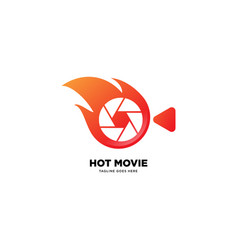 Hot movie logo template icon element vector