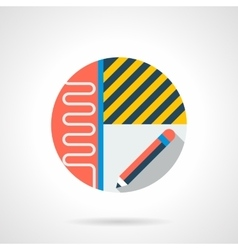 House renovation service round flat icon vector image