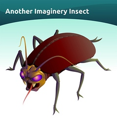 imaginary insect vector image