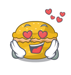 In love macarons banana on in character funny vector