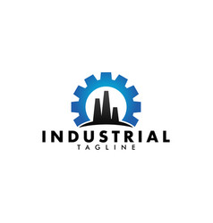 industrial factory logo design template isolated vector image