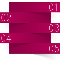 Infographics magenta paper design vector