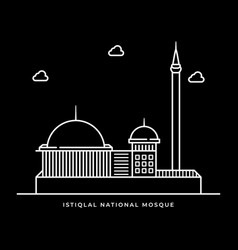 Istiqlal national mosque icon muslims religion vector