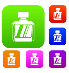 jar of perfume set color collection vector image