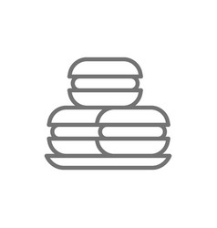 Macaroons macarons cakes sweet bakery line icon vector