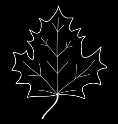 maple leaf mono sign 208 vector image