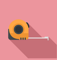 Measurement tape icon flat style vector