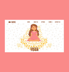 meditating yogi pregnant woman in yoga lotus pose vector image