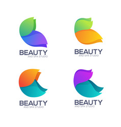 modern color flow simple butterfly images for vector image