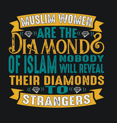 muslim quote and saying good for print vector image