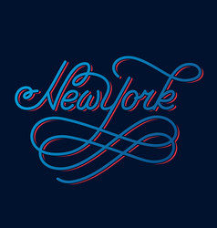 New york hand written city name vector