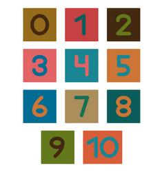 Numerals 1-10 kvadro vector