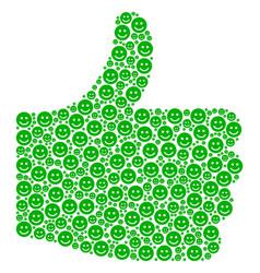 ok mosaic of glad smile icons vector image