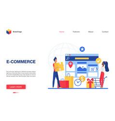 online commerce concept vector image