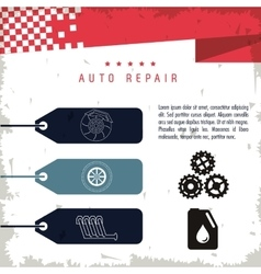 Part icon set Auto repair design graphic vector image