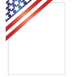 patriotic american frame vector image