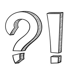 punctuation symbols question mark and exclamation vector image