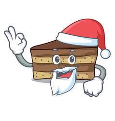 Santa tiramisu mascot cartoon style vector
