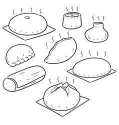 Set chinese snack vector