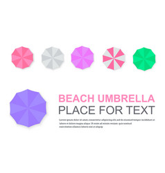 set of beach umbrellas vector image