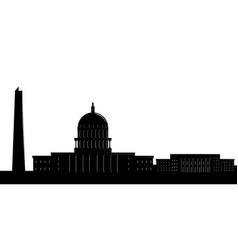Silhouette a washington cityscape vector