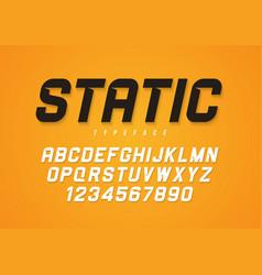 Static decorative bold italic font design vector