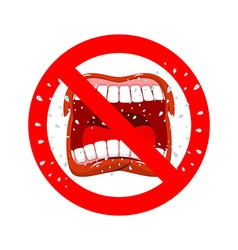 Stop screaming It is forbidden to shout and swear vector